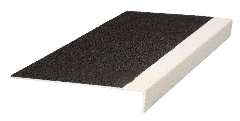 Course Heavy Duty Tread Black / White 345 x 55 x 750 mm For Stairs