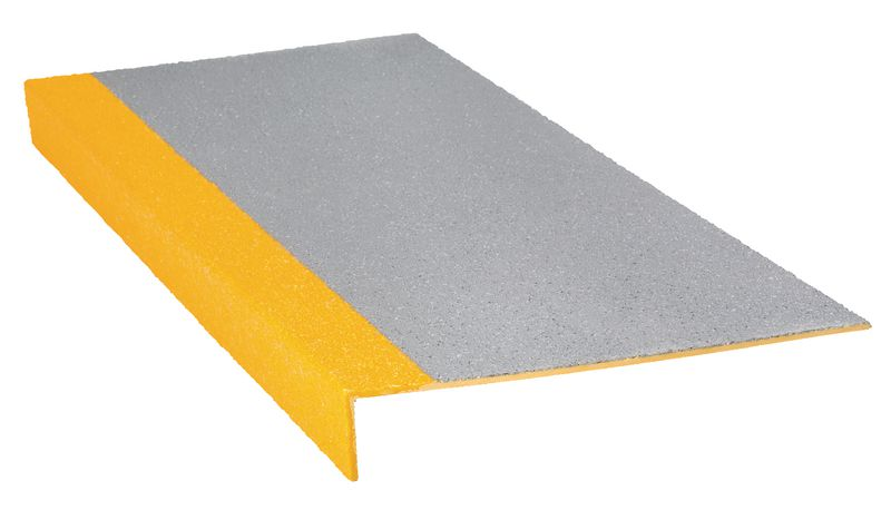 Course Heavy Duty Tread Grey / Yellow 345 x 55 x 750 mm For Stairs
