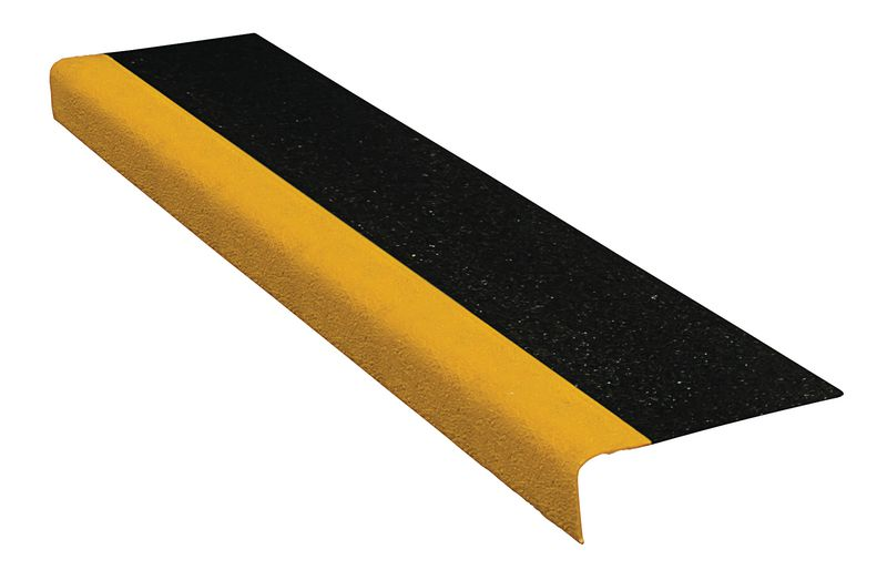 Econ Stair Tread Black / Yellow 345 x 55 x 750 mm For Stairs