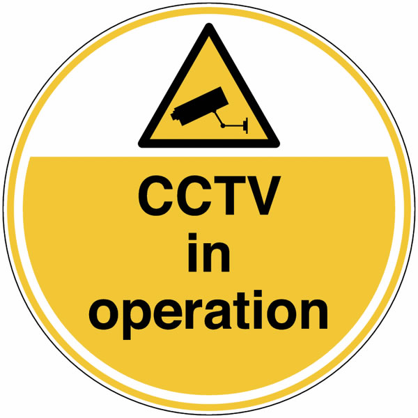 Cctv In Operation Safety Signs