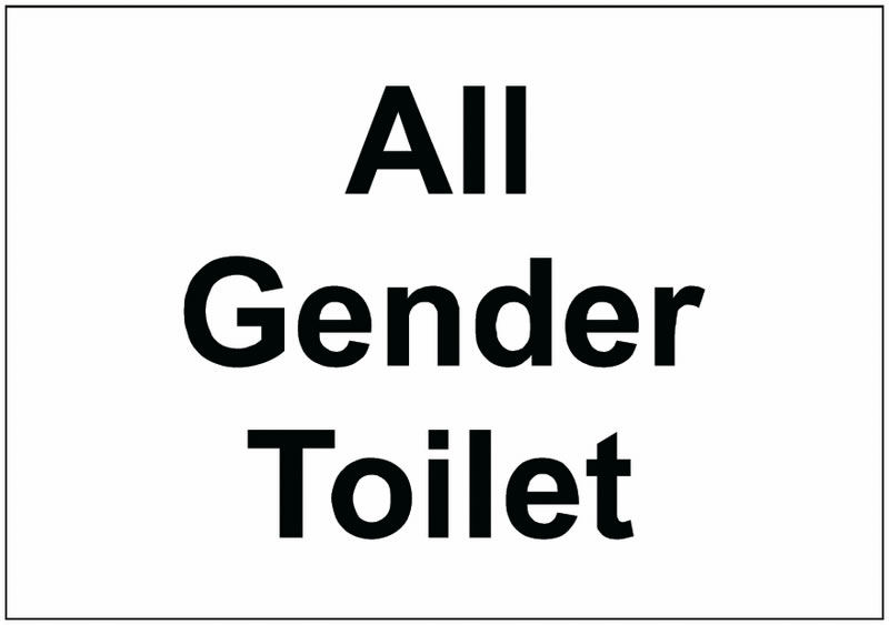 All Gender Toilet Sign Safety Signs