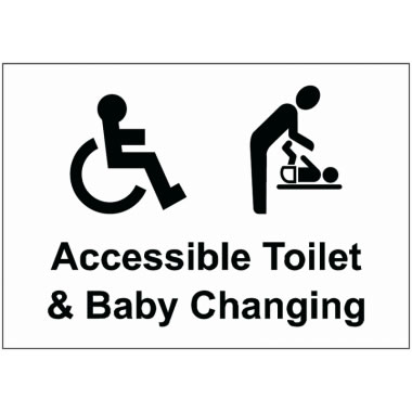 M F And Disabled Toilet Circular Sign Safety Signs