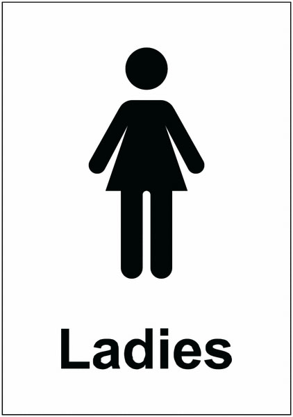 Ladies Toilet Sign Safety Signs