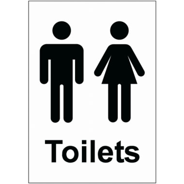 Male And Female Toilets Sign Safety Signs