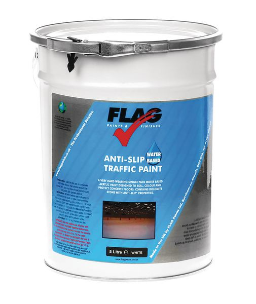 Traffic Water Based Paint 5 Litre White Paint