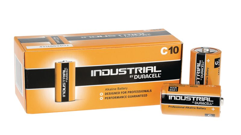 Duracell Industrial Battery Size C Pack of 10