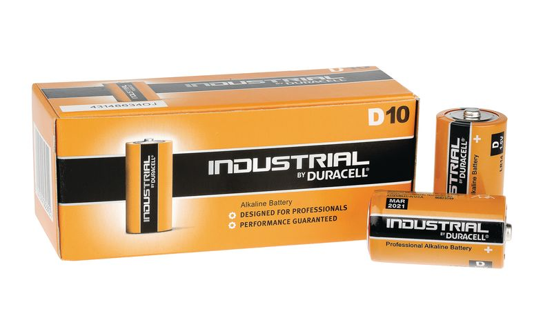 Duracell Industrial Battery Size D Pack of 10 Battery