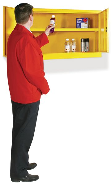 Wallmount Flammable Liquid Cabinet H 610 mm x With 915 mm x D 381 mm