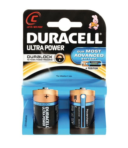 Duracell Ultra M3 Batteries Size C Pack of 2 Battery