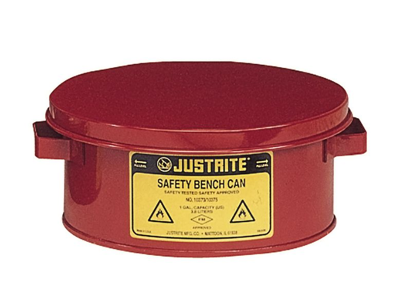 Justrite Flammable Liquid Bench Can 4 Litre