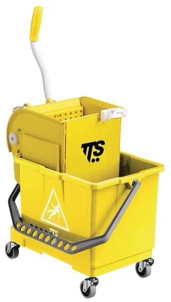 Wheeled Bucket With Wringer Yellow 15 Litre Buckets