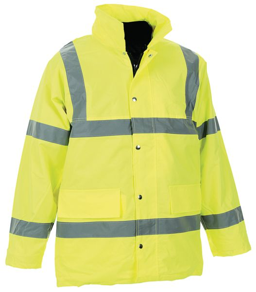 High Vis 4 In 1 Jacket L Yellow  Jackets
