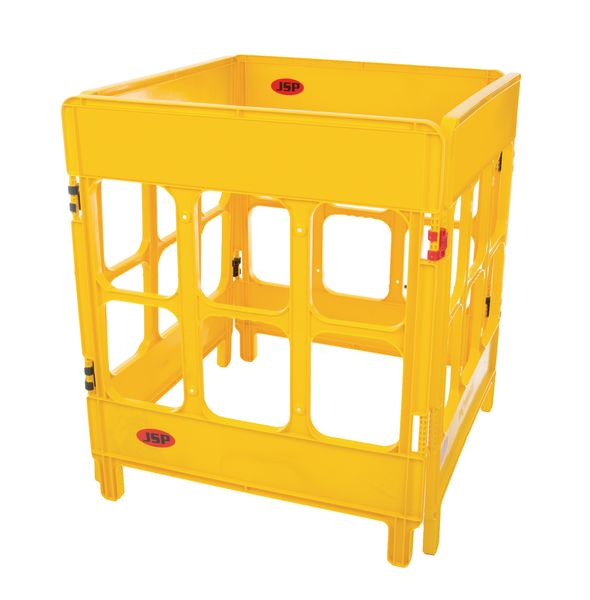 4-Gated Workgate Barrier Yellow  Car Park Barriers
