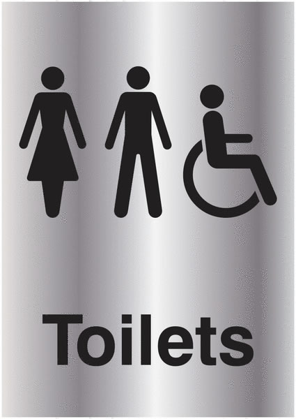 A5 Toilets Silver Effectsigns