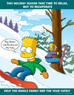 This holiday season take time to relax - simpson safety poster - 400 x 600mm wipe clean encapsulated simpson poster. sign.
