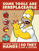 Some tools are irreplaceable - simpson safety poster - 400 x 600mm wipe clean encapsulated simpson poster. sign.