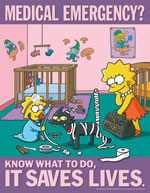 Medical emergency - simpson safety poster - 400 x 600mm wipe clean encapsulated simpson poster. sign.
