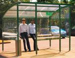 Premier smoking shelters. supplied in flat-pack format for easy on site assembly - simply bolt to a 250mm thick concrete surface. please allow two weeks for delivery. sign.