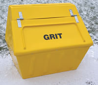 Winter de-icing equipment - 168 litre glass fibre bin