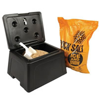 mini grit bin salt & scoop
