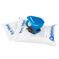 ice melt kit: 2 bags 1 hand spreader