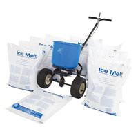 ice melt kit: 20 bags 1 spreader 2
