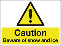 450 x 600 mm Caution Beware of Snow And Ice Safety Signs