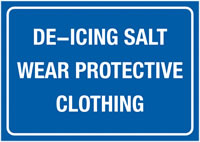 A4 De-Icing Salt Wear Protective Self Adhesive Vinyl Safety Labels